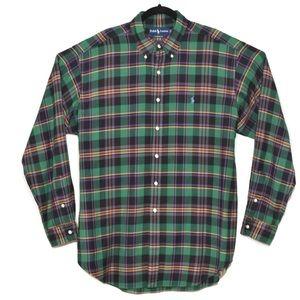 Ralph Lauren Polo Green Black Plaid Shirt sz XL
